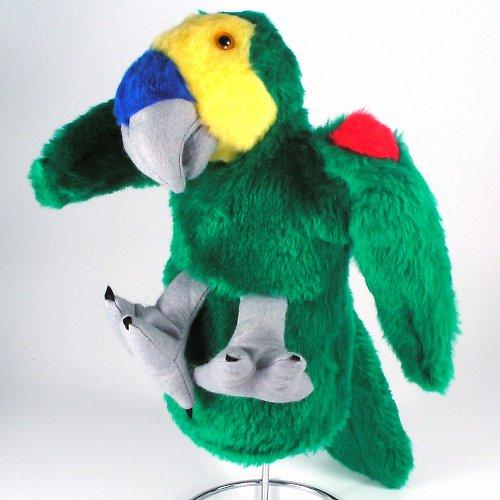 Amazoňan modročelý - papoušek - autorská hračka