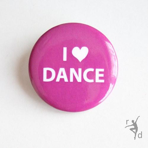 Placka I LOVE DANCE fialová