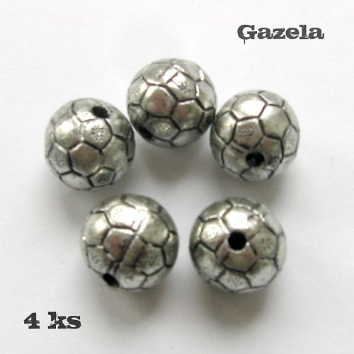 Korálky míče starostříbo - 4 ks