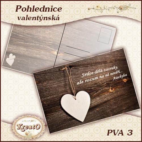 Valentýnská pohlednice