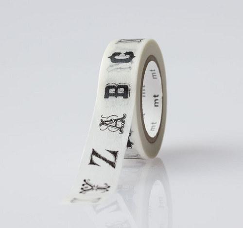 Japonská samolepící páska washi_abeceda
