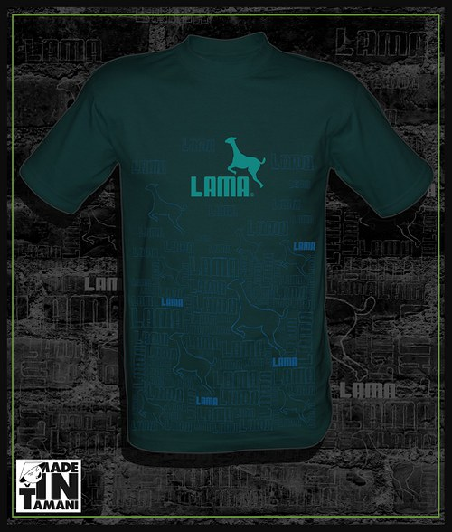 Pánské auberghine tričko Lama design 11