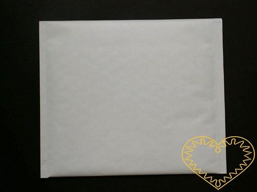 Bílá bublinková obálka na CD - sada 5 ks