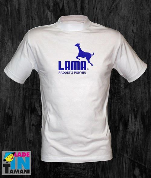 Pánské bílé tričko s Lamou