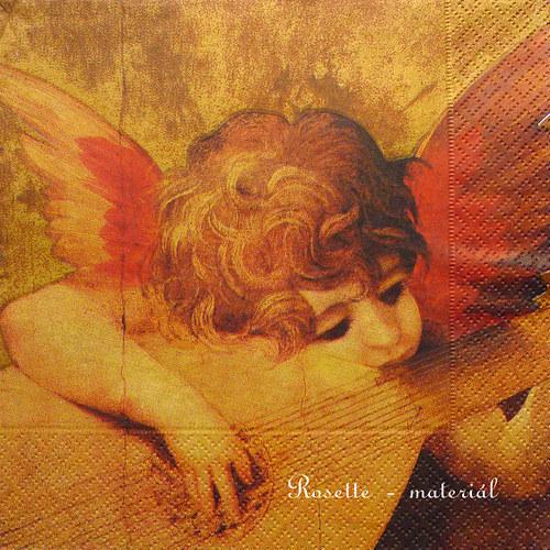 Anděl s loutnou - ubrousek velký