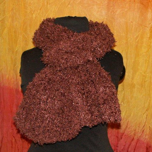 pletená šála - měkoučká - hnědá
