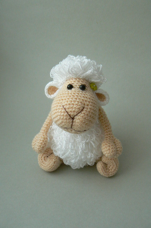Návod na malou háčkovanou ovečku - Pinďu :o)