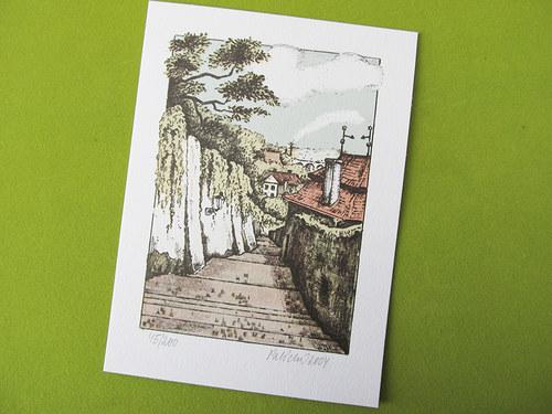 pražský motiv - Staré zámecké schody