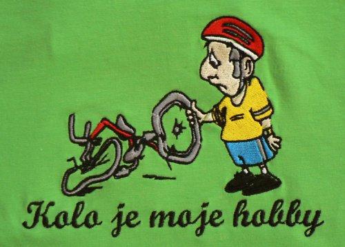 Tričko heavy+výšivka Kolo je moje hobby