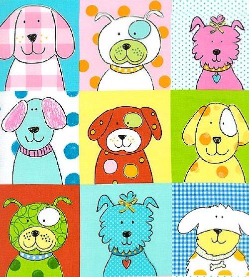 Pejsci - nažehlovací textilní obrázky