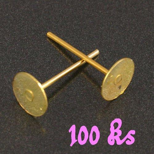 Zlaté puzety 12x6mm 100ks