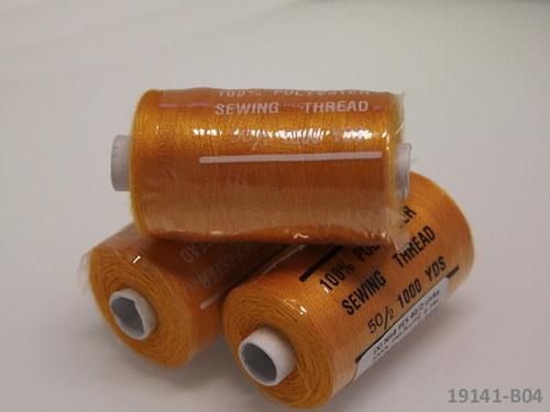 19141-B04 Nitě polyesterové 40/2 1000y TM.ŽLUTÁ