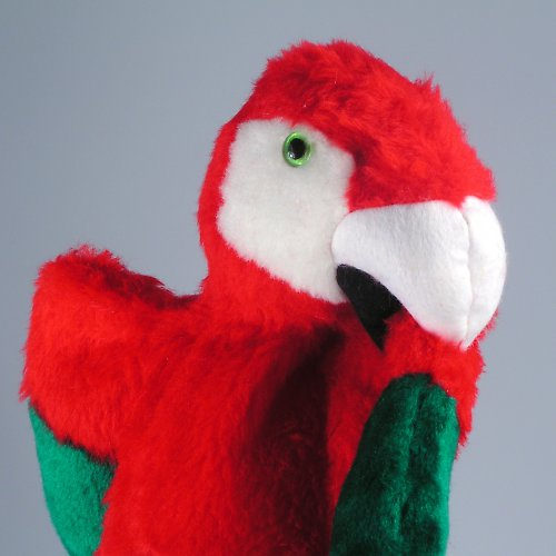 Ara zelenokřídlý - papoušek - autorská hračka