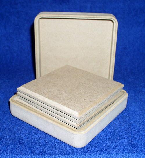 Krabička se 6 podložkami čtvercová DL635