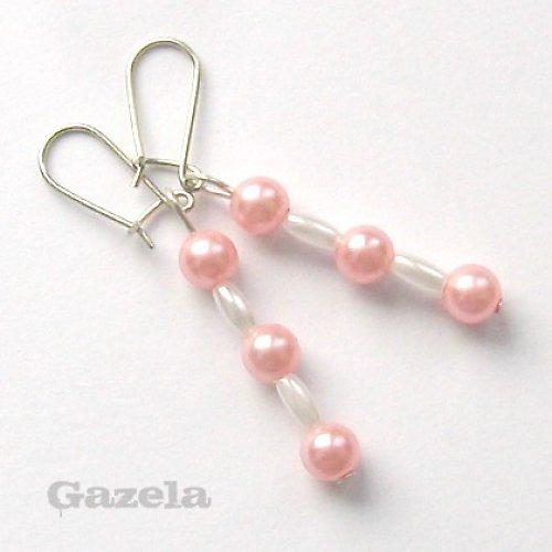 Náušnice Růžová perlička