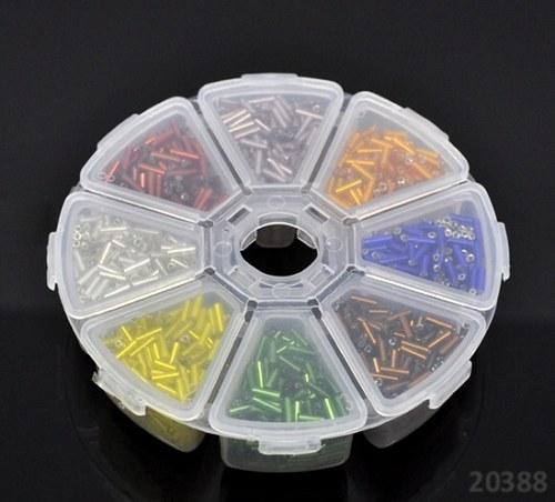 20388 Rokajl trubičky v boxu - MIX 8 barev