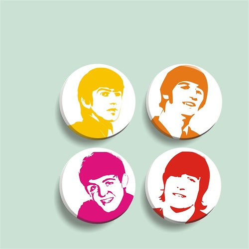 Beatles - sada 4 placek