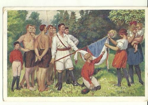 Pohlednice se Sokolskou tématikou r.1926