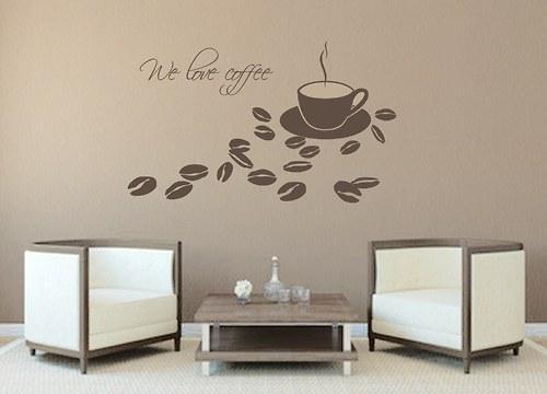 We love coffee - samolepka na zeď (026)