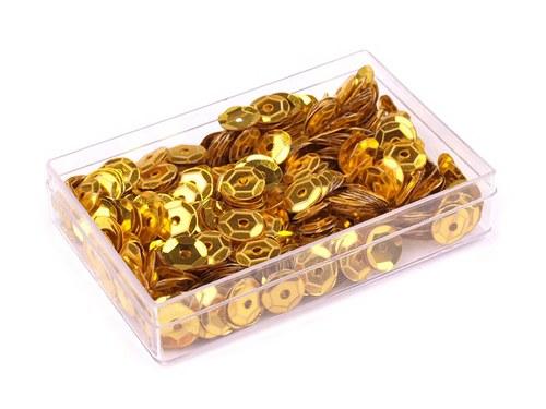 Flitry 6mm v krabičce 7g - zlaté