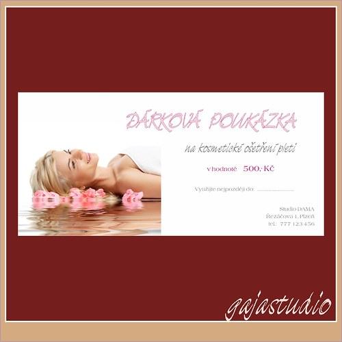 Dárkový poukaz - kosmetické služby