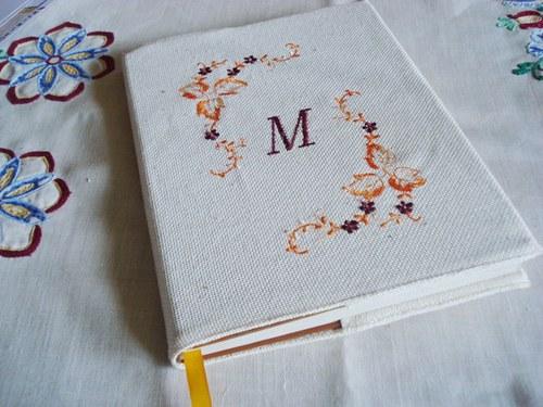 Obal na knihu s monogramem