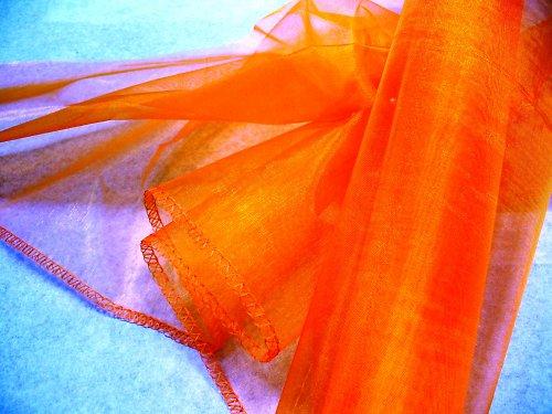 organza oranžová, obroubená