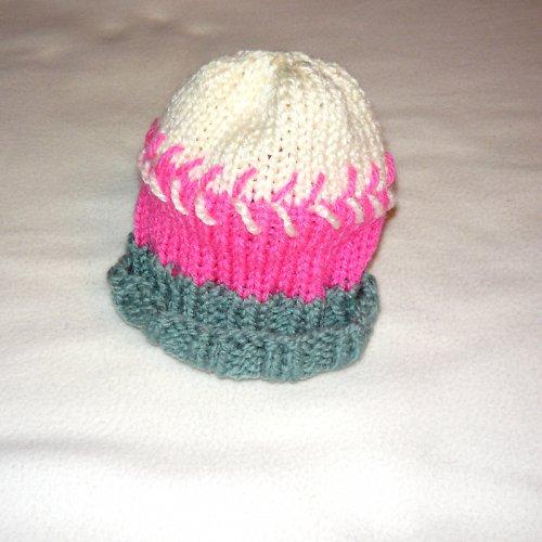Dětská pletená čepička