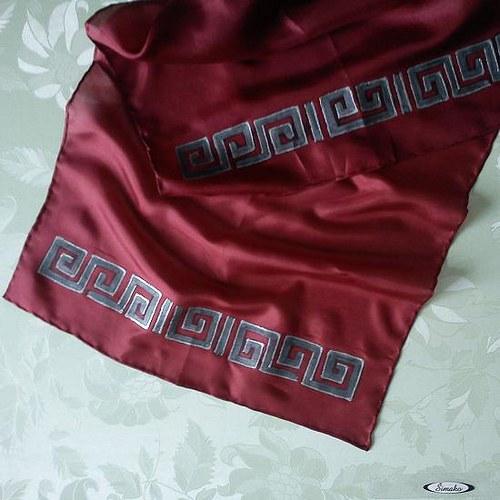 Hedvábný šál (nejen) pro Dámu v černém...