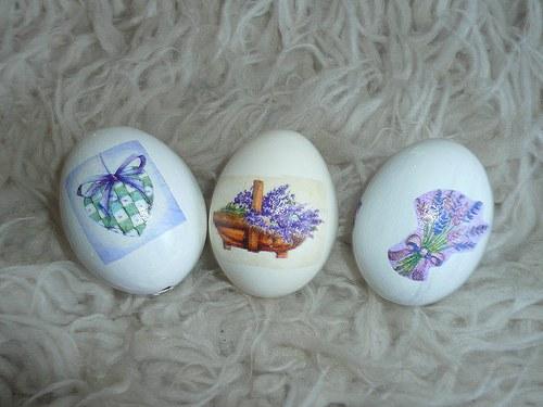 Velikonoční vajíčka - levandule