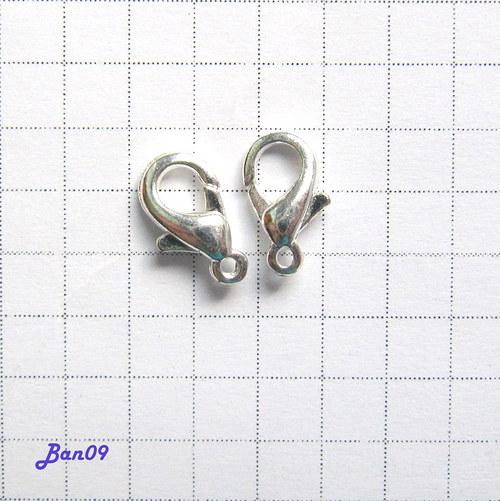 Karabinka stříbro 10 mm 4 ks