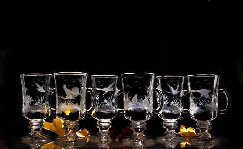 2x sklenice na kafe-lovecký motiv