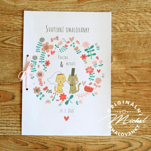 Svatební omalovánky - TYP 13