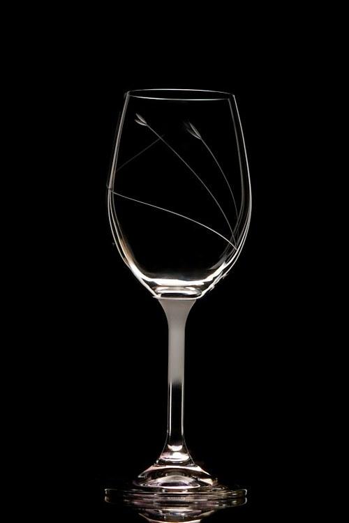 2x ryté  sklenice na víno 350 ml- jemný motiv