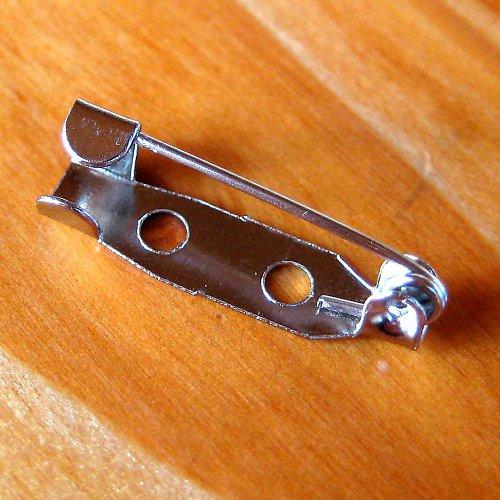 Brožový Můstek 20mm - 2ks - Rhodiový