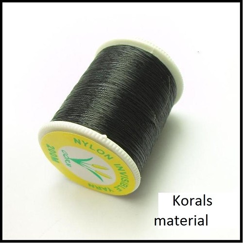 2297 Niť monofilová 200m / 0,14 mm/ černá