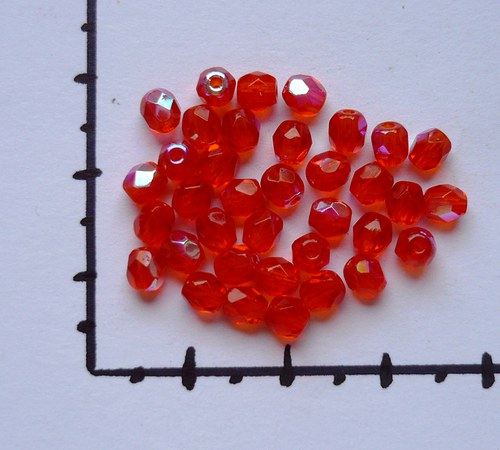 Ohňovky s AB efektem oranžové 4mm, 36 ks