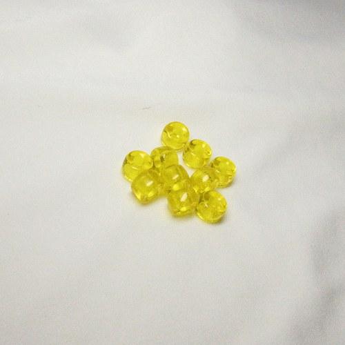 Žluté rondelky 10 ks, 9 mm