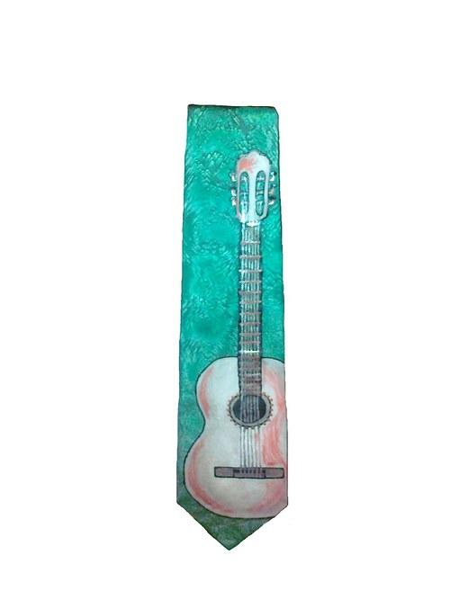 Kravata s kytarou