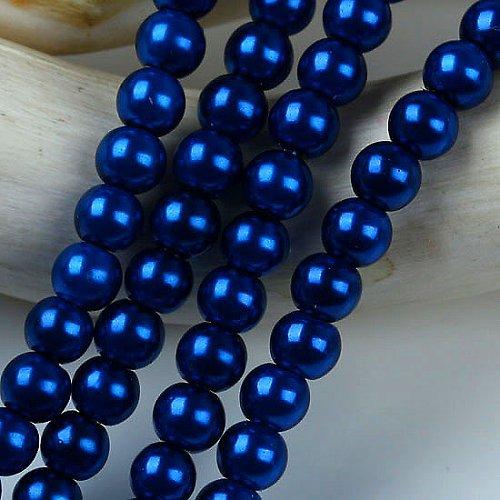 Perly modré - 6mm - cena za 20ks