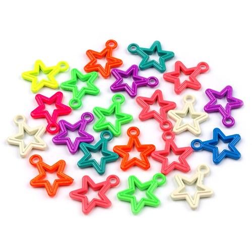 Přívěsek kovová hvězda 15 x 18 mm - 1 ks