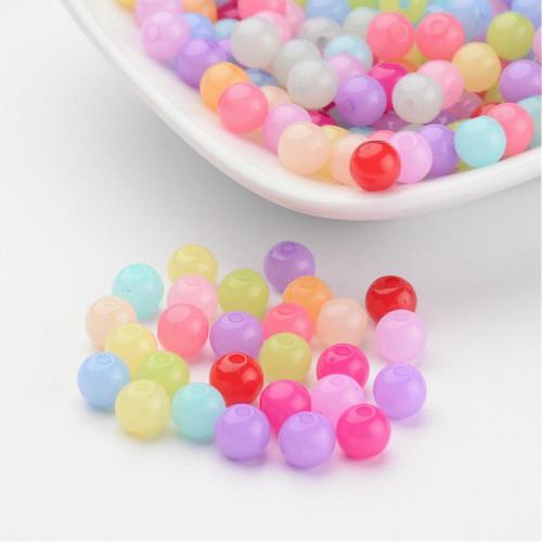Akrylové korálky mix barev 6mm/50ks