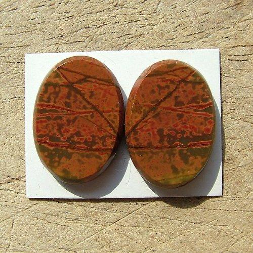 Výprodej! - Multicolor picasso jaspis - pár