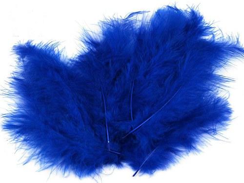 Pštrosí peří délka 120-170mm 20ks tmavě modrá