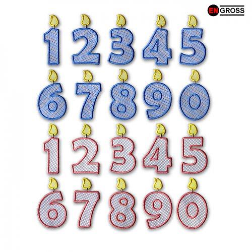 Narozeninová čísla - nažehlovačky