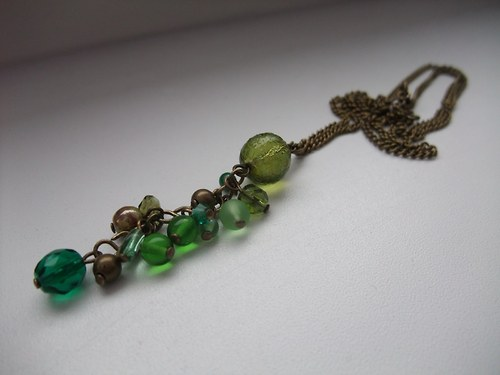 Náhrdelník v zelené