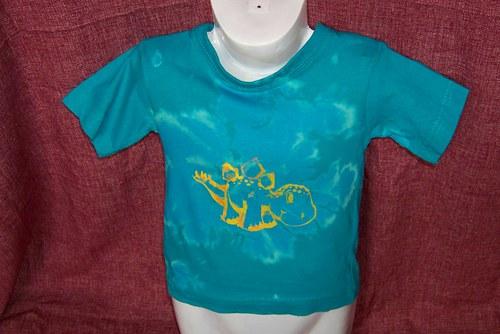 dětské tričko s dinonosaurem