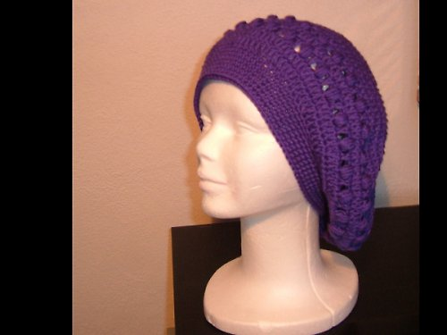 Dámský háčkovaný baret