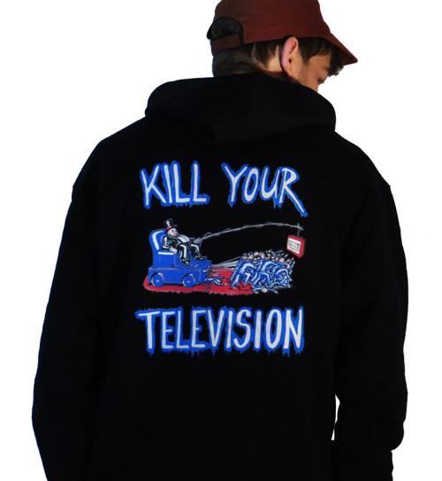 Mikina pánská černá KILL YOUR TELEVISION