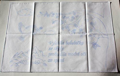 Předtisk na vyšívání - kuchařka! - plátno 70x50 cm
